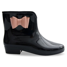 Svart Galoshes Bows With Bow NEW2 Black