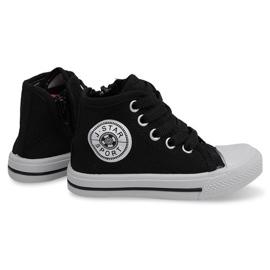Svart High Children's Sneakers Y1312 Black