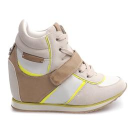 Brun Snygga sneakers JT4 Beige
