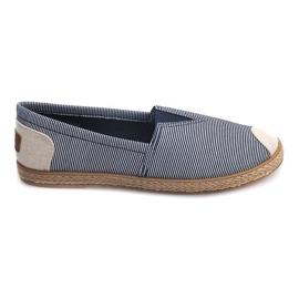 Blå Sneakers Espadrilles Linen 326 Blue