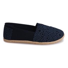 Blå Sneakers Espadrilles Linen B211-3 Blue