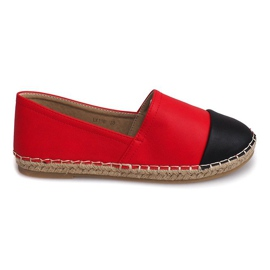 Röd Sneakers Espadrilles Linen LX116 Red