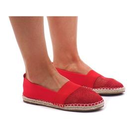 Röd Sneakers Espadrilles, openwork 188-38 Red