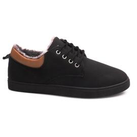 Svart Isolerade Sneakers med Fur E655-1 Black
