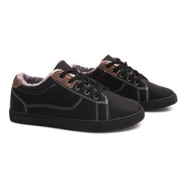 Svart Isolerade Sneakers med Fur E754M-1 Black