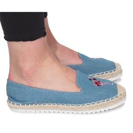Blå espadrilles Flammande Jeans