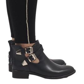 Ideal Shoes Marinblå öppna stövlar Y8157