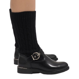 Ideal Shoes Svarta varma stövlar E-4939