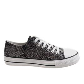 Svarta mäns sneakers BKA-9