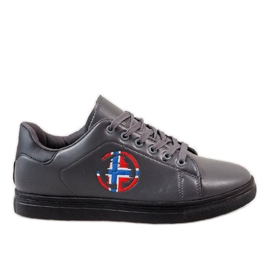 Gråmäns sneakers D20533
