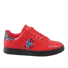 Röda herr sneakers D20533