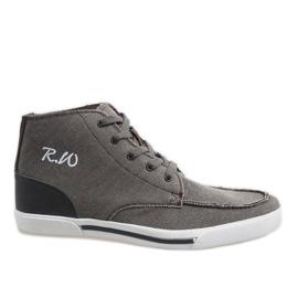 Brun eleganta höga skor F10455