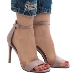 Lila Violetta sandaler på en mocka häl SY-31P