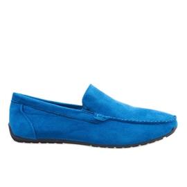 Mörkblå eleganta loafersskor AB07-6