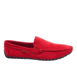 Röda eleganta loafers AB96K-2