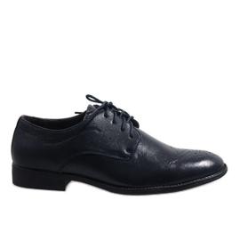 Marinblå Mörkblå eleganta skor D181502B