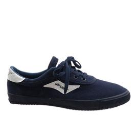 Marinblå mäns sneakers HW01