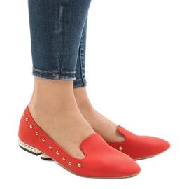 Röd loafers för ZHC-980 ballerinas