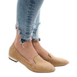 Brun Camel loafers för ZHC-980 ballerinas