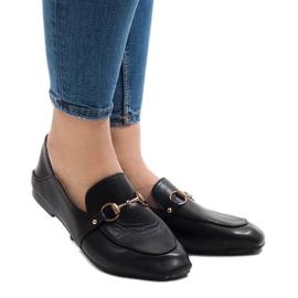 Svarta loafers för YJX001 ballerinas