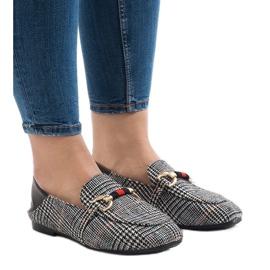 Svarta loafers för YJX003 ballerinas