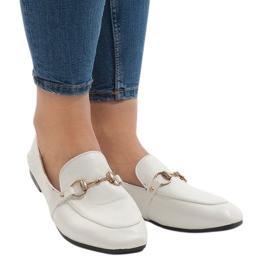 Vit White loafers för YJX001-9 ballerinas