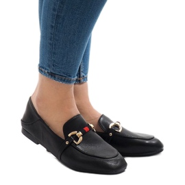 Svarta loafers för YJX005 ballerinas