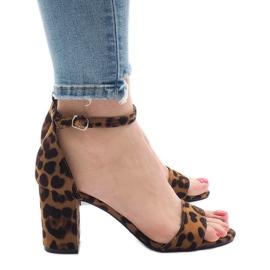 Leopard femhåriga sandaler 5102