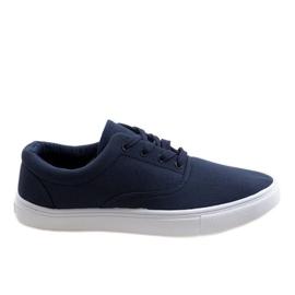 Marinblå mäns sneakers QF-10