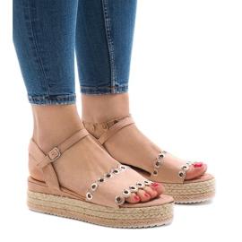 Rosa sandaler på plattformen 99-46
