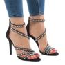 Svarta sandaler på stilett 9081-9