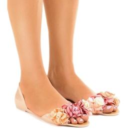 Brun Beige meliski sandaler med AE20 blommor