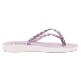 Seastar Violett flätad flip-flops lila