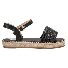 Small Swan svart Espadrilles Black Sandals