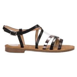 Erynn svart Casual Black Sandals