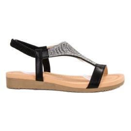 Top Shoes Snygga Svart Sandaler