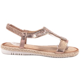 Emaks Slip Espadrilles sandaler rosa