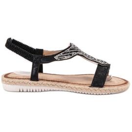 Emaks Slip Espadrilles sandaler svart
