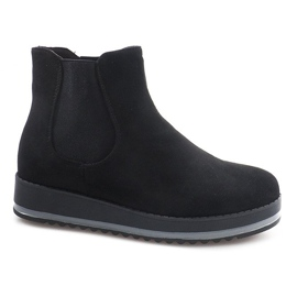 Svart Insulated Boots Knee Boots K-105 Black