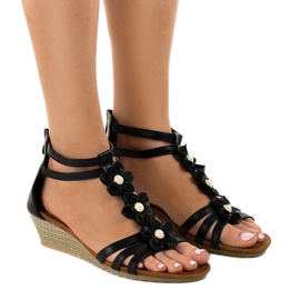 Svart B125 kil sandaler