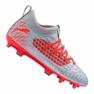 Fotbollsstövlar Puma Future 4.3 Netfit Fg / Ag Jr 105693-01 grå röd, grå / silver