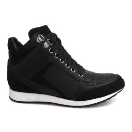 Svart Sneakers Wedge 58804 Black