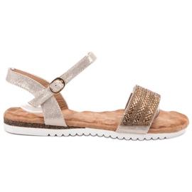 Emaks brun Sandaler med zirkoner