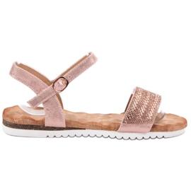 Emaks Sandaler med zirkoner rosa