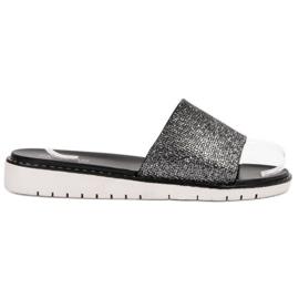 Svart Fashionable Glossy Flip Flops