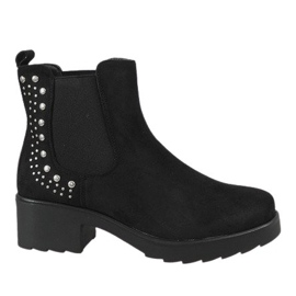 Kayla Shoes Svarta isolerade högklackar 88048