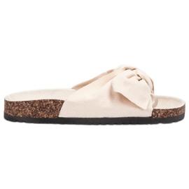 Bona brun Suede Flip-flops Med Bow