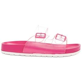 Ideal Shoes rosa Genomskinliga flikar Se spänne