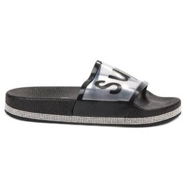 Bona svart Transparenta Flip Flops