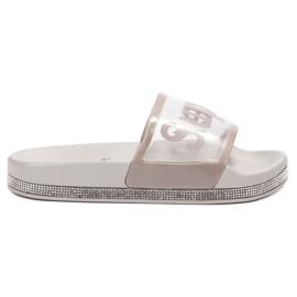 Bona grå Transparenta Flip Flops